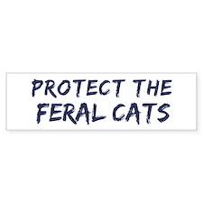 Protect the Feral Cats Bumper Bumper Sticker