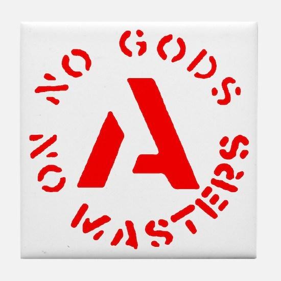 No Gods No Masters Tile Coaster