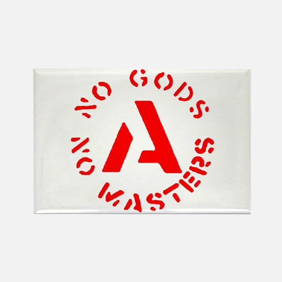 No Gods No Masters Rectangle Magnet