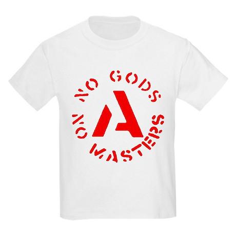 No Gods No Masters Kids Light T-Shirt