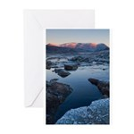 Winter Blue Mountains Greeting Cards (Pk of 10)