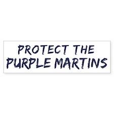 Protect the Purple Martins Bumper Bumper Sticker