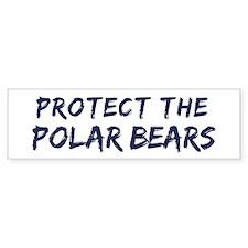 Protect the Polar Bears Bumper Bumper Sticker