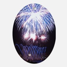 Boston Fireworks 2 - Keepsake (Oval)