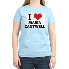 I Love Maria Cantwell Women's Pink T-Shirt