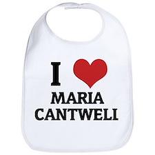I Love Maria Cantwell Bib