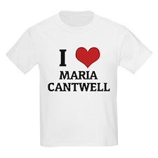 I Love Maria Cantwell Kids T-Shirt