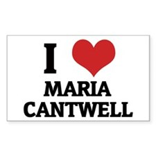 I Love Maria Cantwell Rectangle Decal