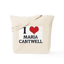 I Love Maria Cantwell Tote Bag