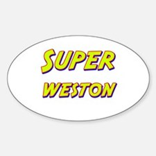 Super weston Oval Decal