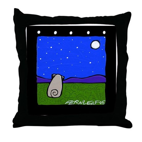 """""""Pug and the Universe Throw Pillow"""