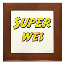Super wes Framed Tile