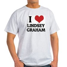 I Love Lindsey Graham Ash Grey T-Shirt