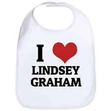 I Love Lindsey Graham Bib