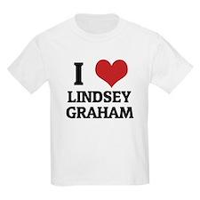 I Love Lindsey Graham Kids T-Shirt