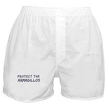 Protect the Armadillos Boxer Shorts