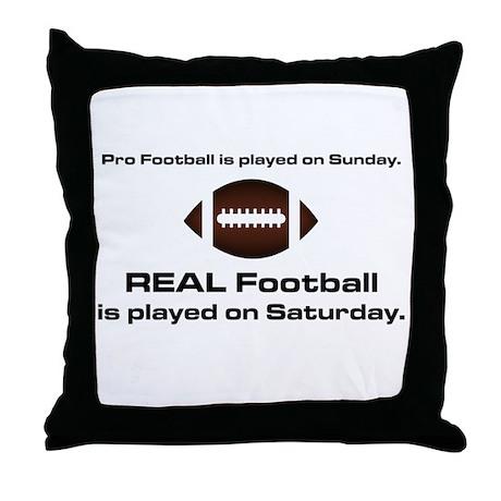 REAL Football Throw Pillow