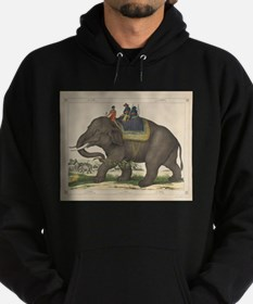Vintage Painting of Men Riding an Eleph Sweatshirt