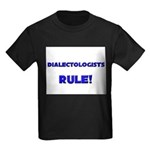 Dialectologists Rule! Kids Dark T-Shirt