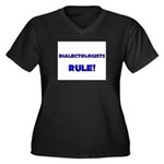 Dialectologists Rule! Women's Plus Size V-Neck Dar
