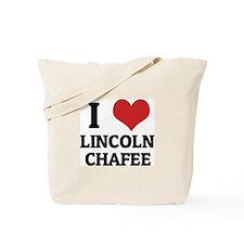 I Love Lincoln Chafee Tote Bag