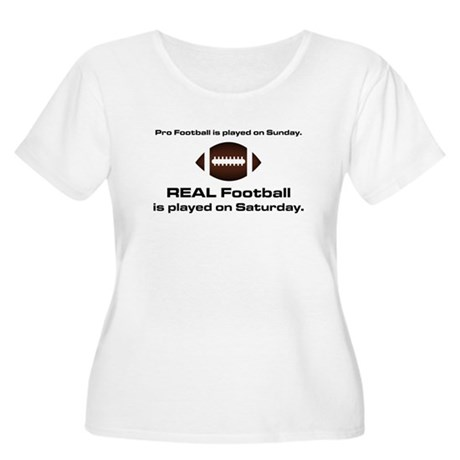 REAL Football Women's Plus Size Scoop Neck T-Shirt