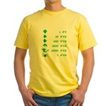 Point Value Yellow T-Shirt