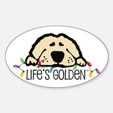 Life's Golden Christmas Oval Decal