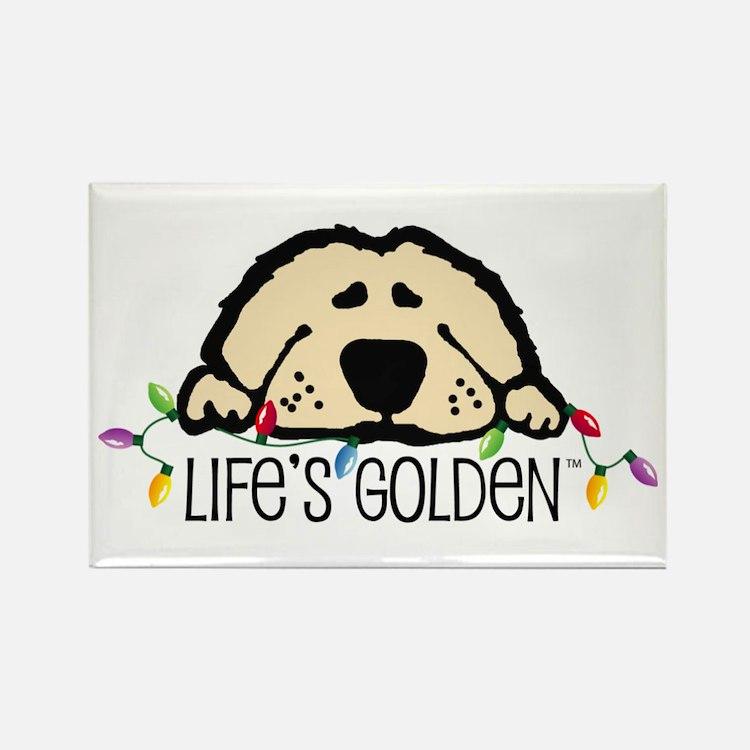 Life's Golden Christmas Rectangle Magnet