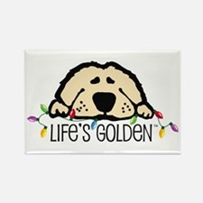 Life's Golden Christmas Rectangle Magnet (10 pack)