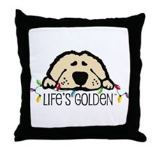 Life's Golden Christmas Throw Pillow