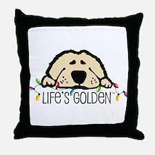Life's Golden Christmas Throw Pillow