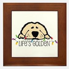 Life's Golden Christmas Framed Tile