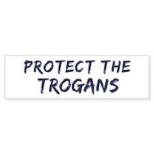 Protect the Trogans Bumper Bumper Sticker