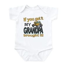 Grandpa Brought it Infant Bodysuit