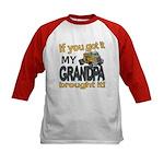 Grandpa Brought it Kids Baseball Jersey
