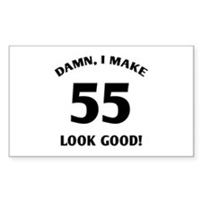 Sexy 55th Birthday Gift Rectangle Decal