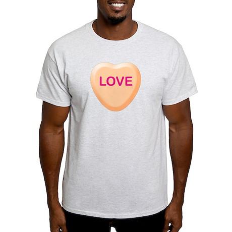 LOVE Orange Candy Heart Light T-Shirt