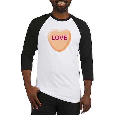 LOVE Orange Candy Heart Baseball Jersey