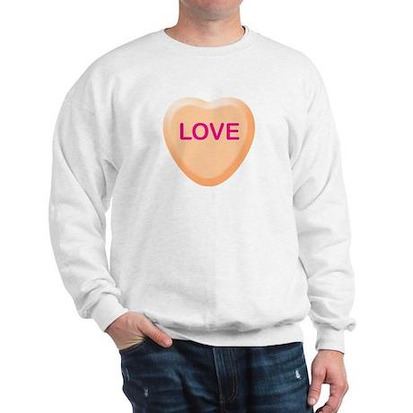 LOVE Orange Candy Heart Sweatshirt