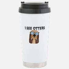 """I See Otters"" Stainless Steel Travel Mu"