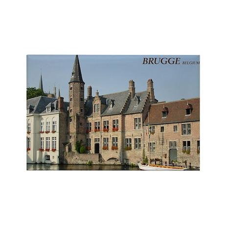 Brugge Boat Rectangle Magnet
