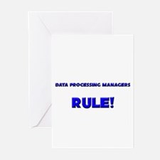 Data Processing Managers Rule! Greeting Cards (Pk