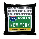 Boston Intelligence Throw Pillow
