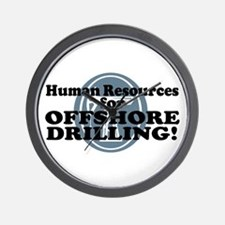 Human Resources For Offshore Drilling Wall Clock
