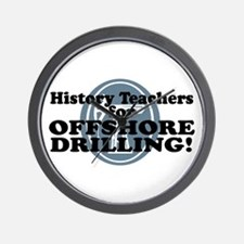 History Teachers For Offshore Drilling Wall Clock