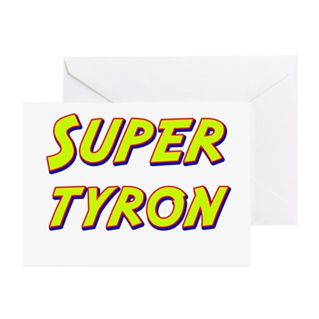 Super tyron Greeting Cards (Pk of 10)