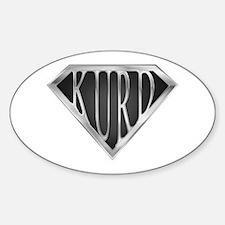 SuperKurd(metal) Oval Decal
