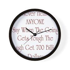 Funny Economic crisis Wall Clock