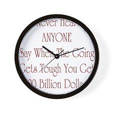Cute Economic crisis Wall Clock